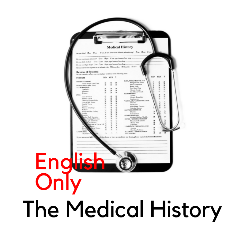 Recorded Webinar - Medical History and Other Stories (EN)