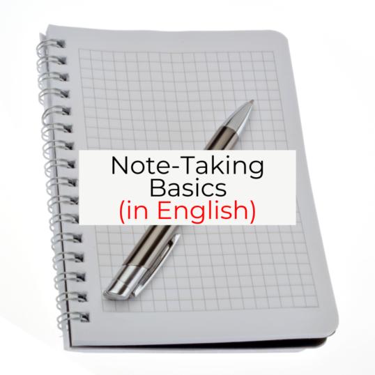 Note-taking Basics