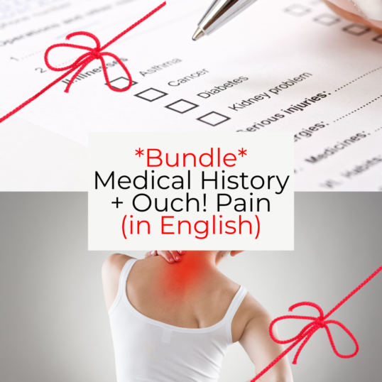 Bundle of 2 webinars: the medical history and pain