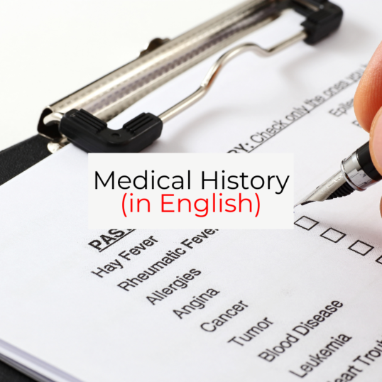 Image of a medical history form. Someone is checking a box with a black pen.